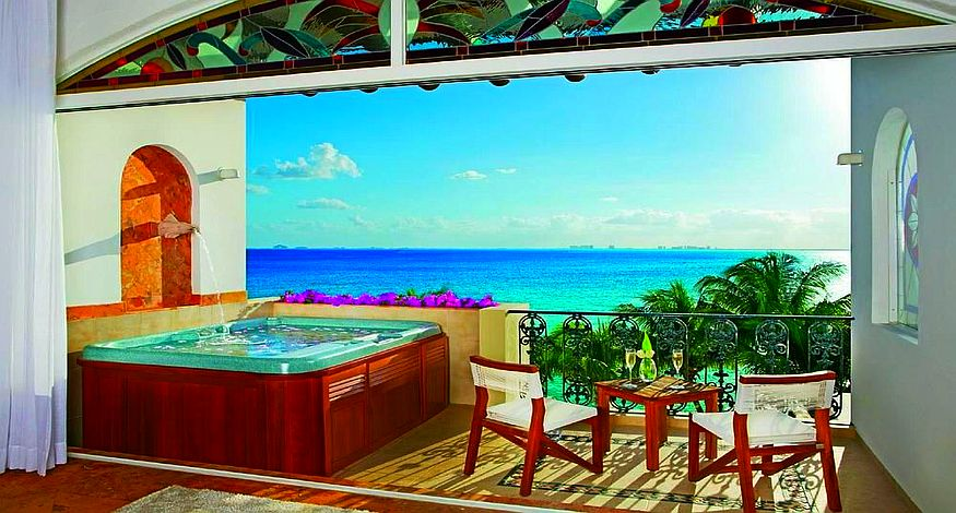 #1 on our list of best all inclusive resorts in Playa Mujeres is Zoetry Villa Rolandi Isla Mujeres