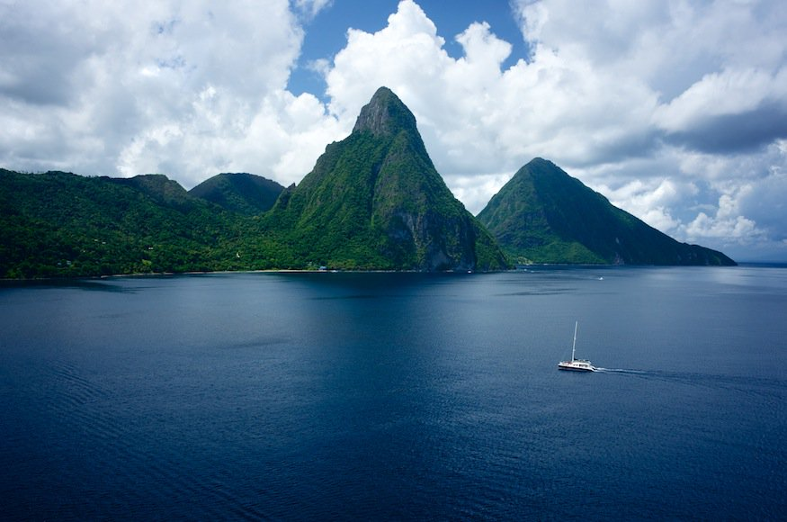 Piti and Gros Piton Mountains
