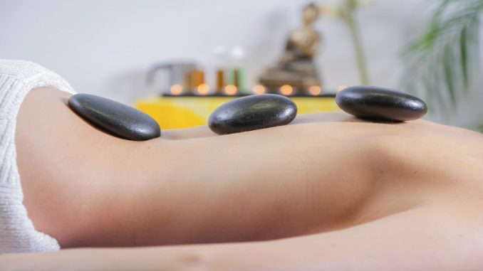 Hot Stone Massage at the Spa