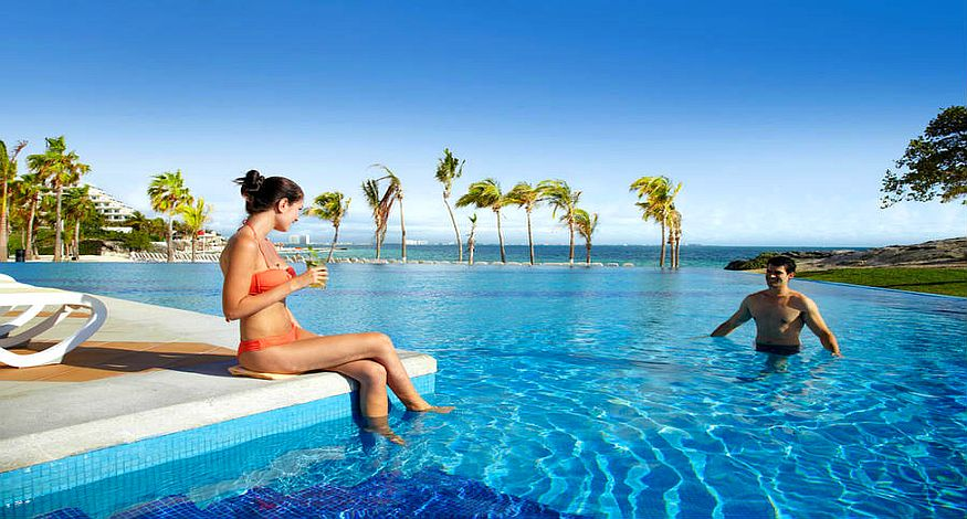 #8 on our list of Best All Inclusive resorts in Cancun is Hotel Riu Palace Peninsula
