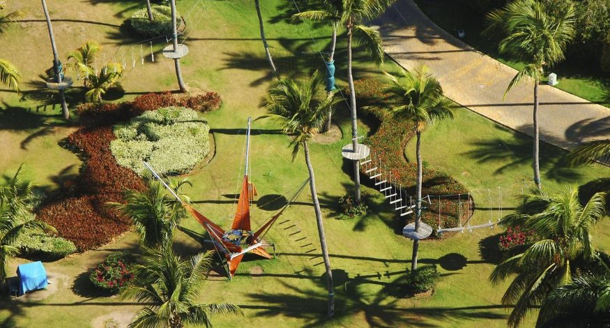 Zip line at Meliá Caribe Tropical Beach Resort