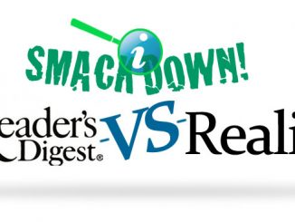 Smack Down - Readers Digest vs Reality