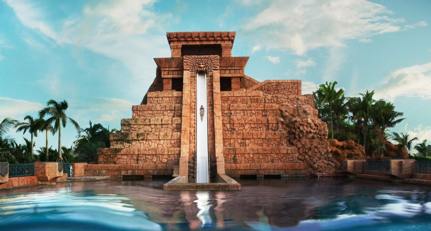 Water slide at Atlantis Paradise Island, Bahamas