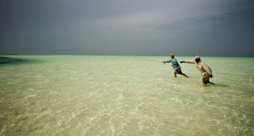 Fishing at Bair's Lodge, Bahamas