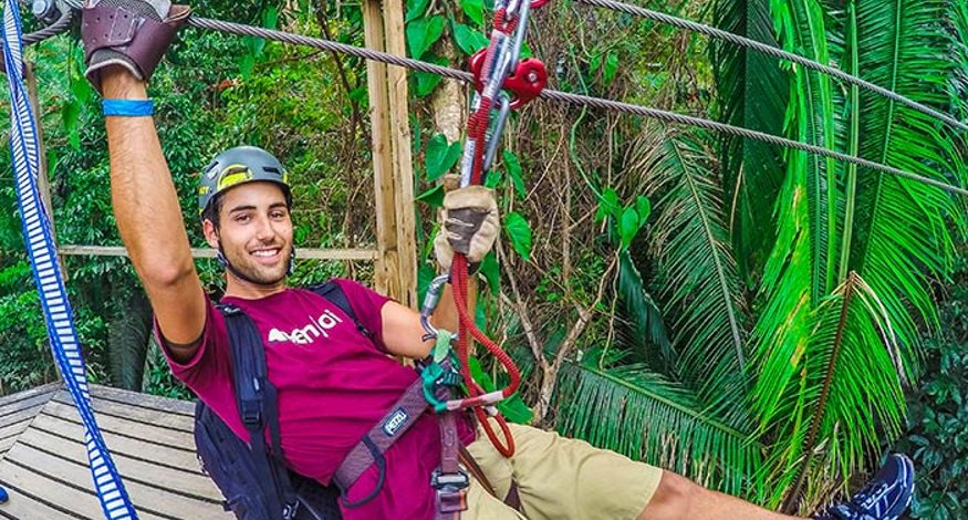 Zip lining at Belizean Dreams Resort
