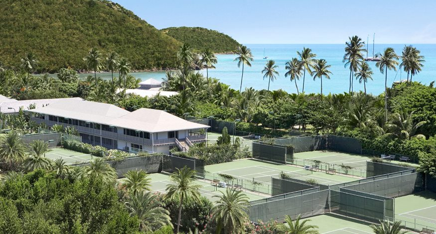 Tennis courts at Carlisle Bay Resort, Antigua
