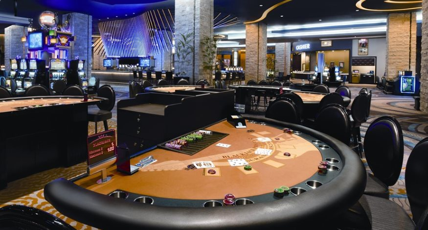 Casino tables at Hard Rock Punta Cana