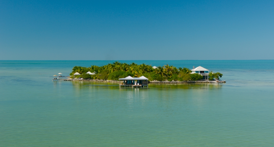 The private island of Cayo Espanto, Belize