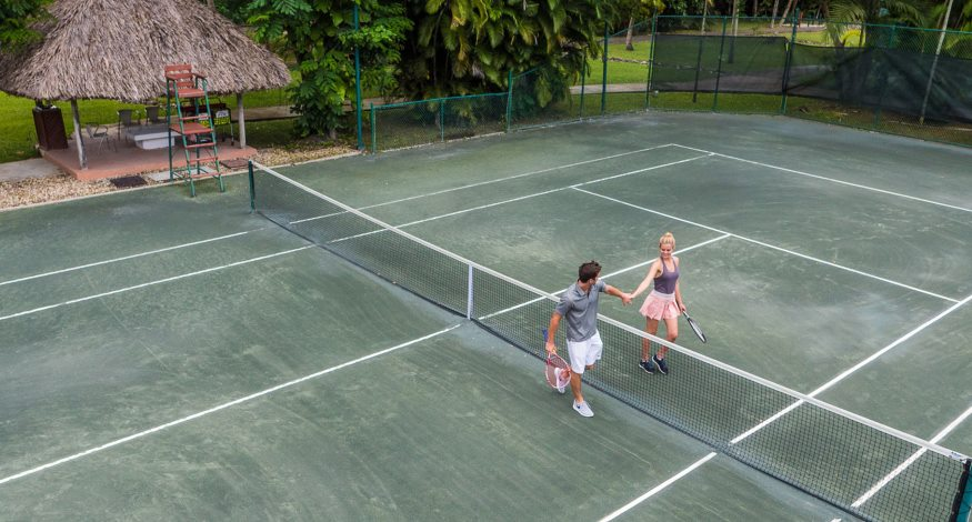 Tennis court at Couples Swept Away in Jamaica