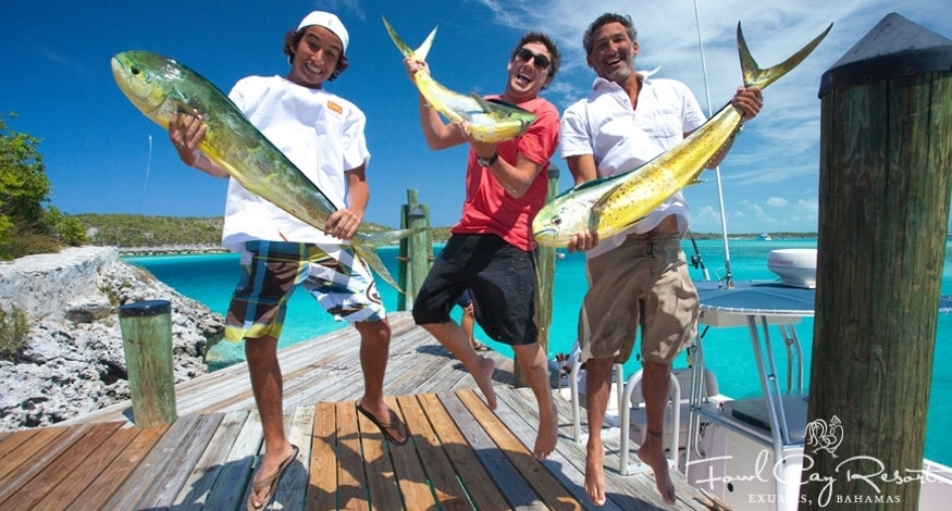 Catching fish at Fowl Bay Resort, Bahamas