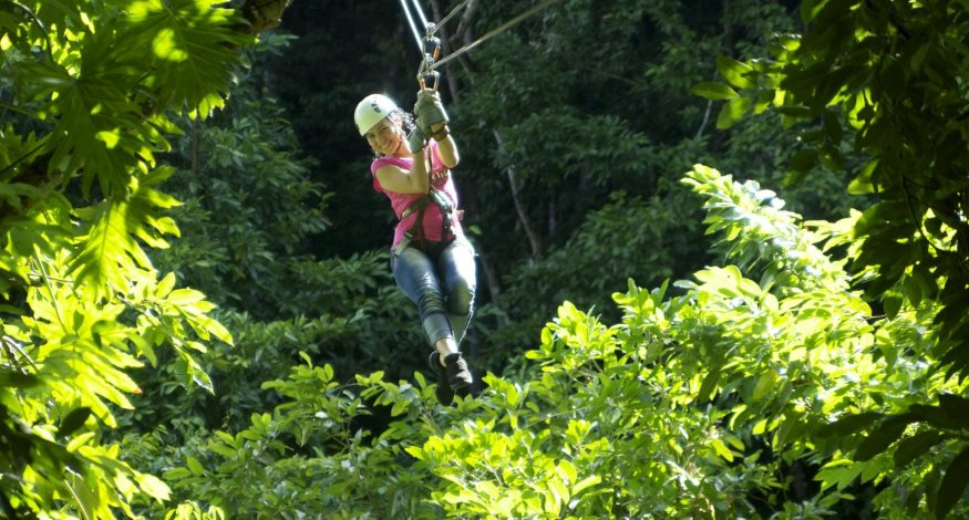 Zip lining at Jewel Dunn's River Resort