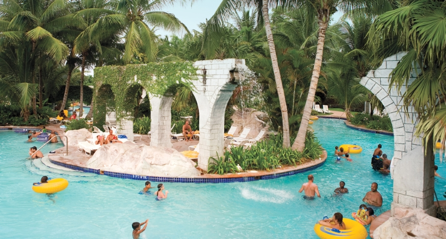 Lazy river at Hilton Rose Hall Resort