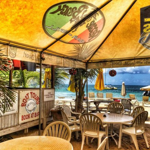 Reggae Beach Bar and Grill in St. Kitts