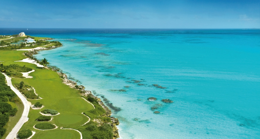 Sandals golf course in Great Exuma
