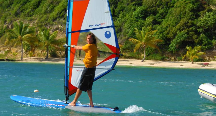 Windsurfing at Nonsuch Bay Resort, Antigua